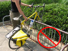 Велопарковка из труб